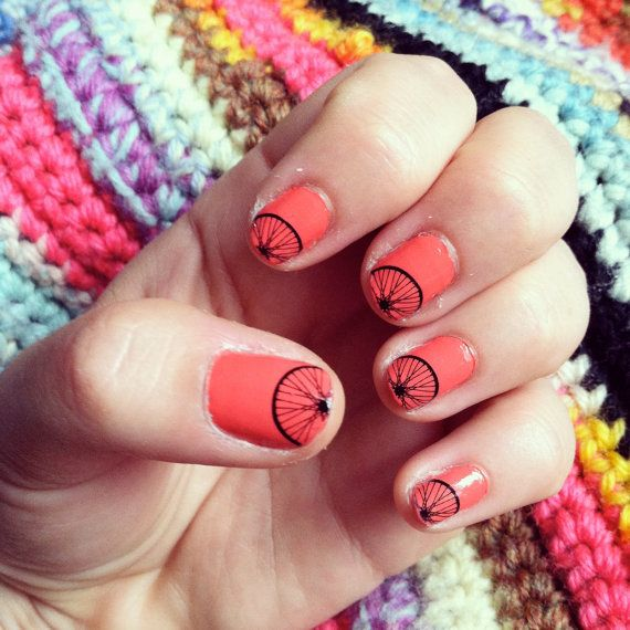 D.I.Y. Bicycle Nail Art Kit by bicyclecowgirl on Etsy. Only $9. Good gift idea.