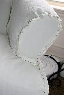 drop cloth sofa slipcover tutorial