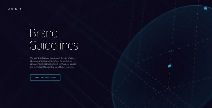 Uber Brand Guide - Site of the Day June 14 2015