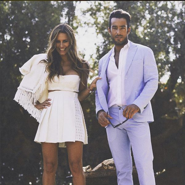 Aaron Diaz with Lola Ponce in Ermanno Scervino SS 2015 total look in People Spain magazine #ScervinoCelebs #ErmannoScervino Regram @Lolaponce #LolaPonce