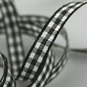 Quality Woven Edge 7mm Gingham Ribbon by the metre, Choice of Colours | eBay