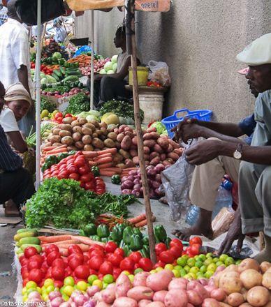 Kariakoo Market, Dar es Salaam. A great market photo post from http://atasteoftravelblog.com/2012/dar-es-salaam/