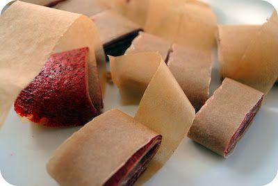 Homemade Strawberry Fruit Roll Ups | Random Recycling