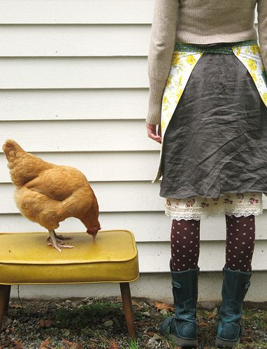 her clothing.. and her life... but ESPECIALLY her chickens!! :D