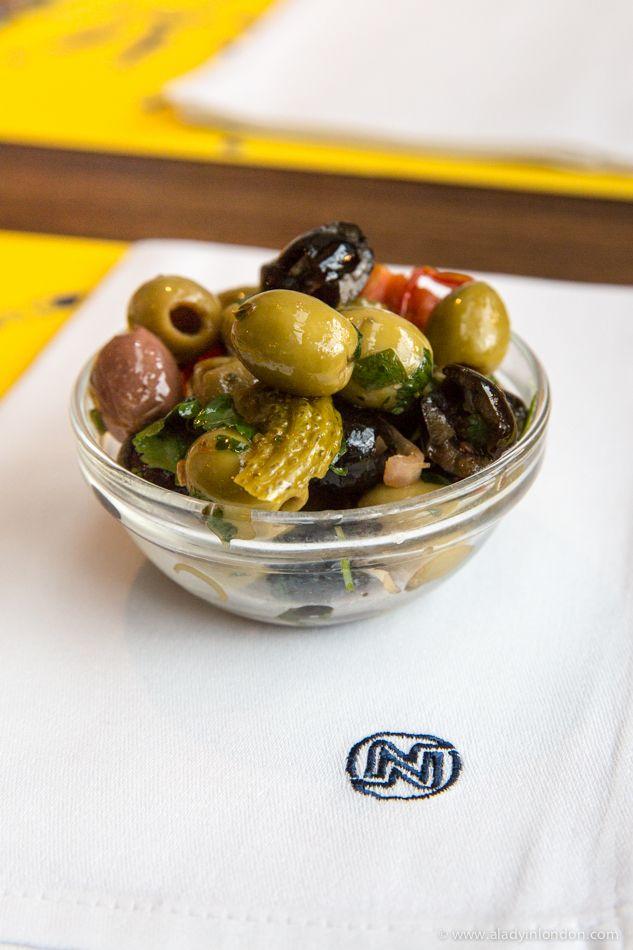 Olives at Le Canterbury restaurant, Brussels, Belgium