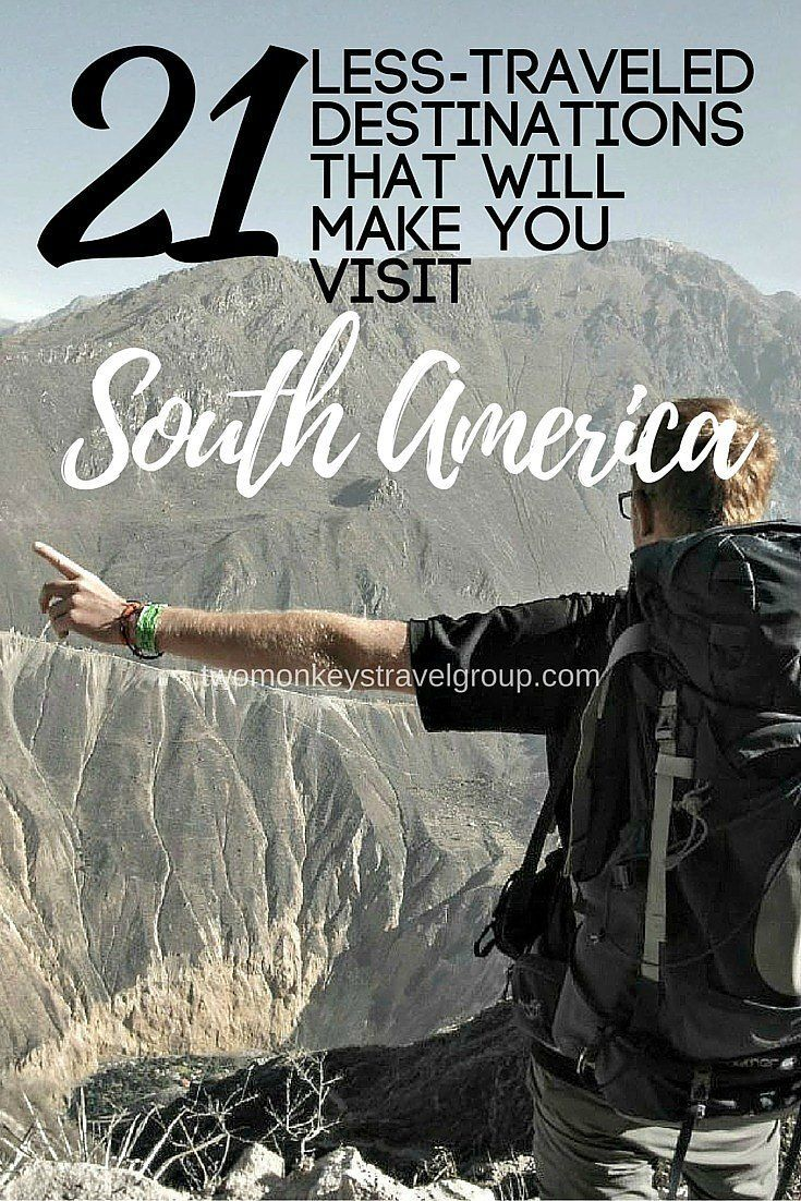 21 Less-traveled Destinations that will make you visit South America. What do you expect from this amazing continent if you decide to go on a backpacking trip around South America?  Take a look at the pictures and make your dreams come true!                                                                                                                                                      More