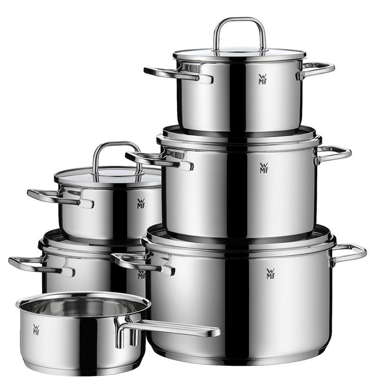 WMF 11-piece Inspiration 18/10 Stainless Steel Cookware Set Trust Quality Number One ** Details can be found by clicking on the image.