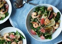 Roasted Shrimp, Fennel and Grapefruit Kale Salad