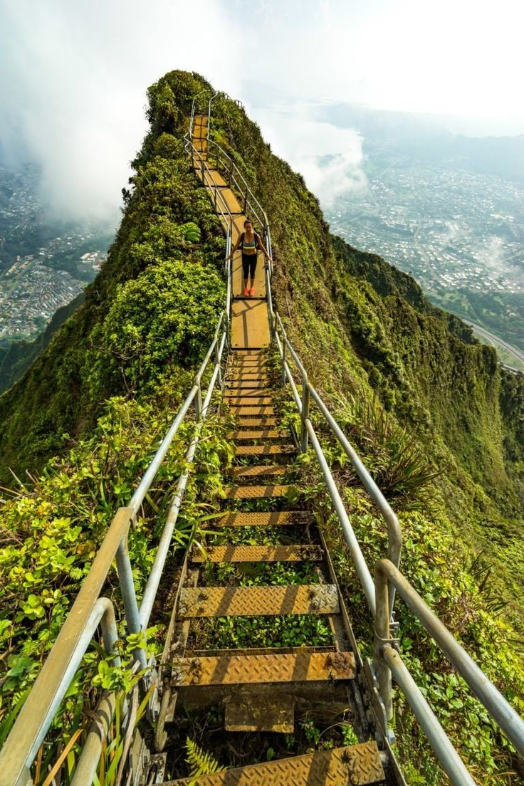 Oahu, Hawaii | Take adventure to the top as you climb the aptly-named Stairway to Heaven - 3,922 stairs into the sky. Cruise with Royal Caribbean to Hawaii and venture beyond the beach and into the rolling mountains for a vantage point of adventure that will leave you in vertical awe.