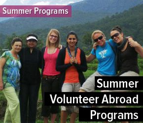 Safe and affordable Summer Volunteer Programs abroad in different countries including short term and long term programs with Volunteering Solutions.  http://www.volunteeringsolutions.com/summer-volunteer-abroad