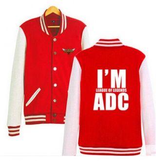 League of Legends baseball jackets I am League of Legends ADC sweasthirt XXXL