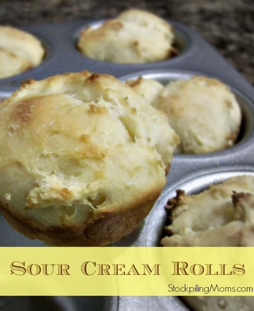 Homemade Sour Cream Rolls that are ready to bake in an hour! Perfect for Christmas dinner!