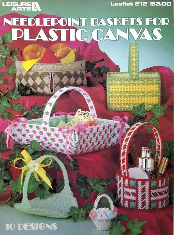 Vintage Plastic Canvas Baskets Pattern Book By