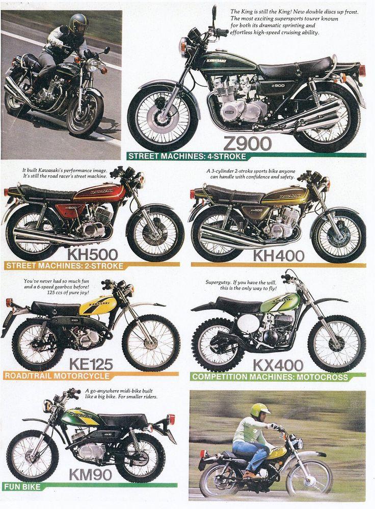 Kawasaki motoren 1976 iconen