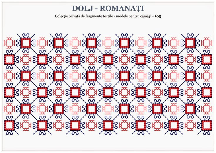 Semne Cusute: Romanian traditional motifs - OLTENIA; Dolj-Romanati