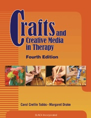 Crafts and Creative Media in Therapy. Great resource for occupational therapists. Describes a variety of different craft ideas that can be used in various therapeutic settings, including supplies, time, instructions, safety precautions, case studies of craft used in therapy, tips on grading and documentation, and more.