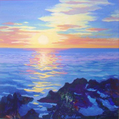 Sunrise Winter,Greystones by Rick Bentham on ArtClick.ie Ireland Seascape Art