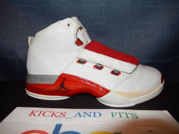 VTG 2002 Nike Air Jordan XVII White Red RIGHT SHOE ONLY OG 302697-161 5Y
