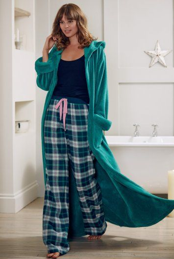 Comfy pajamas and a super fluffy long robe- ahh I can feel the relaxation coming on already!