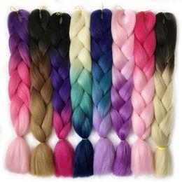 VERVES 3 tone ombre braiding hair Kanekalon jumbo braids Fashion synthetic hair extension synthetic braiding hair more colors