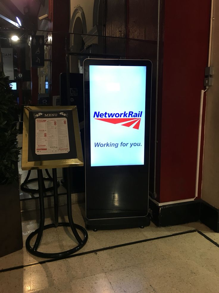 "Network Rail running our 47"" freestanding Digital signage totems controlled using our squareVIEW software. This is one of a number of displays at Liverpool Lime Street station."