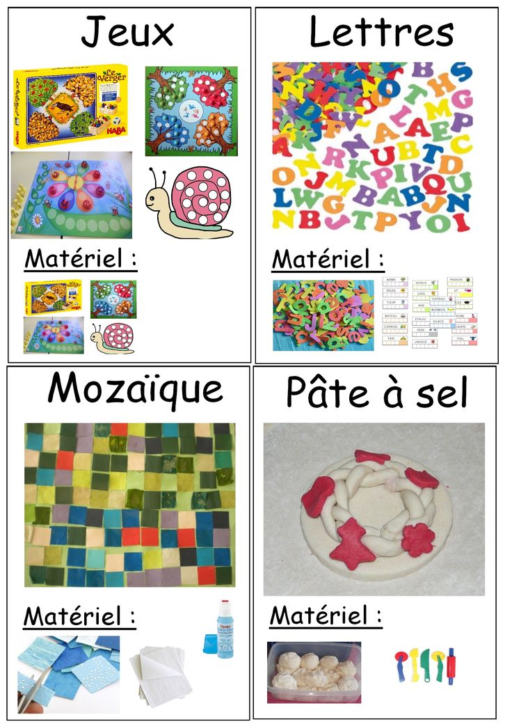 Fiches ateliers à poser