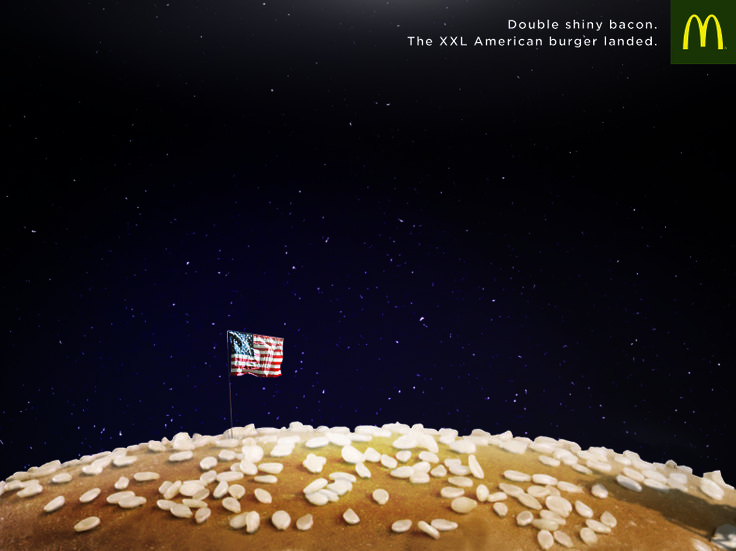 McDONALD American Burger Landed