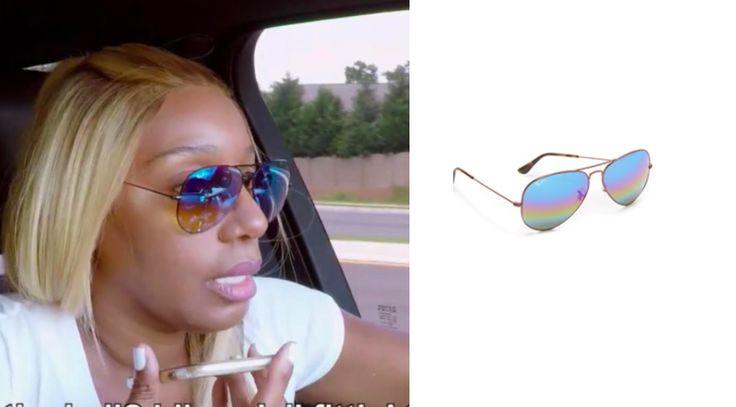 Glam Glasses! Get details on Nene Leakes' Rainbow Aviator Sunglasses ON SALE here: https://www.bigblondehair.com/nene-leakes-blue-rainbow-aviator- sunglasses/ #RHOA