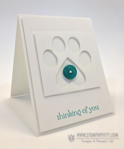 Sweet Essentials stamp set - Mary Fish, Independent Stampin' Up! Demonstrator.  Details, supply list and more card ideas on http://stampinpretty.com/2013/05/puppy-paw-1-minute-to-wow-video-tutorial.html