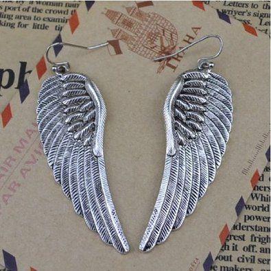 COMMANDéES :) Au Marché du Luxe - Boucles d'oreilles ailes d'ange: Amazon.fr: Bijoux