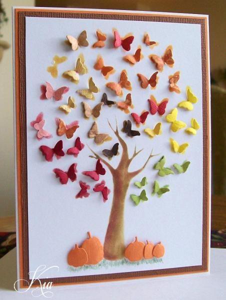 Mariposa árbol F4A242 por kiagc - Tarjetas y manualidades de papel en Splitcoaststampers