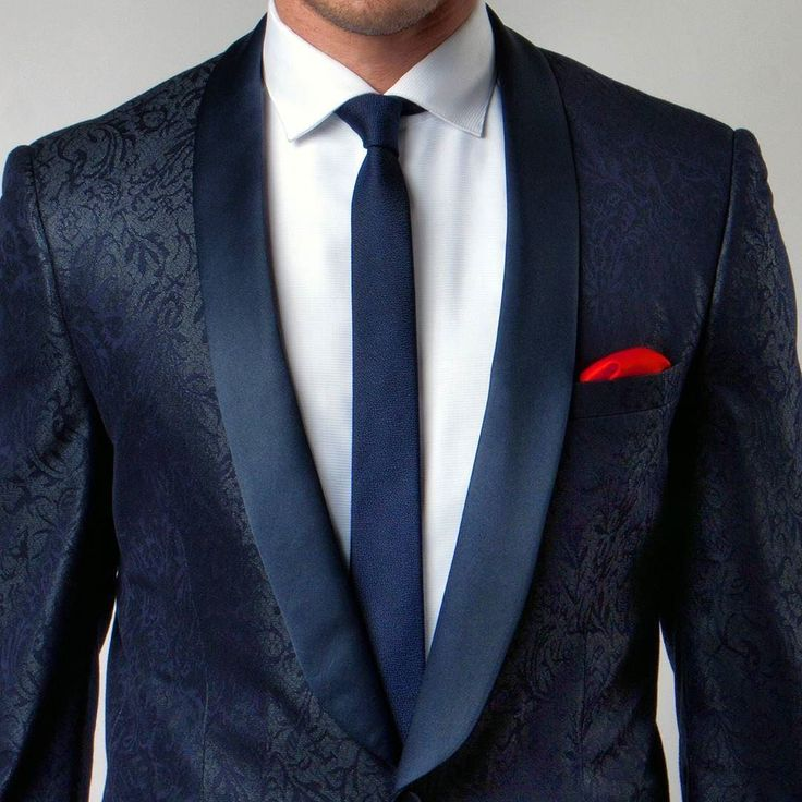 Take a look at this New Navy Blue Pattern Tuxedo Jacket with Satin Shawl Lapel. #FindYourStyle at PerfectTux.com. Search style MJ124S-2 by perfect_tux
