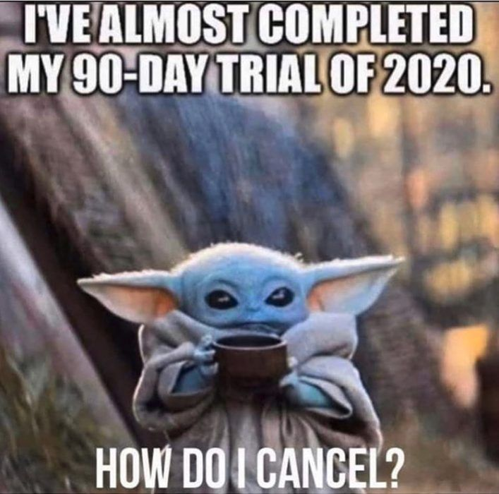 30 Funny 2020 Memes Because It Ain T Over Yet Yoda Funny Memes Funny