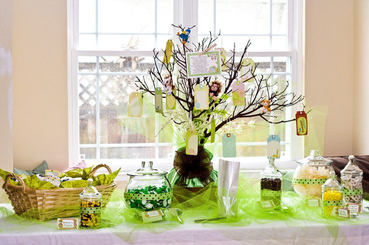 """Sarah's Pictures :: Keri's Baby Shower - """"Jungle Babies Tea Party"""" March 2011 :: 4333_Keri_s_baby_shower_Tea_and_candy_buffet_party_favors"""