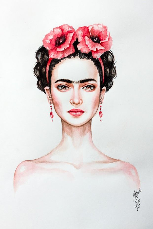 Frida's eyes tattoo idea