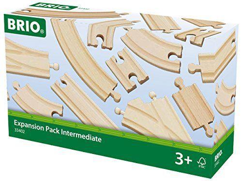 Brio – 33402 – Circuits de train en bois – Coffret évolution Intermédiaires – 16 pièces: Un pack de rails en bois de hêtre de 16 éléments…