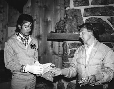 James William Guercio, owner of Caribou Ranch, with Michael Jackson who visited the ranch during The Jacksons Victory Tour in 1984... #caribou #ranch #colorado  #secrethideout #michaeljackson  #grammy #halloffame #recordingstudio #rockymountains #upcoming #auction