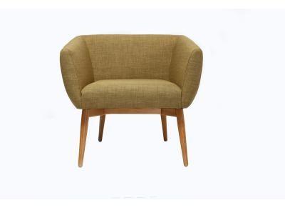 Poltrona design seduta in tessuto color verde oliva - ARTIK -