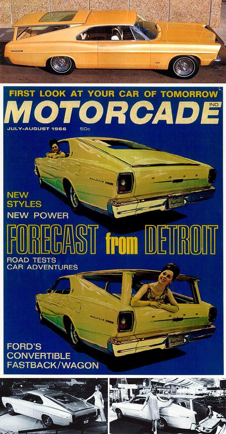Convertible fastback wagon concept car 1966 ford magic cruiser galaxie 5000