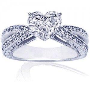 heart wedding rings for women | romantic-heart-shaped-diamond-engagement-ring