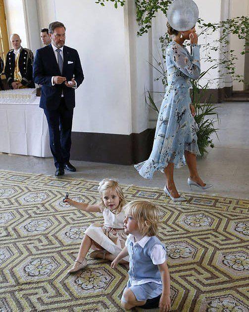 #PrincessMadeleine, #ChrisOneill, #PrincessLeonore, #PrinceNicolas, and the #SwedishRoyalFamily at the celebrations of Crown Princess Victoria's 40th birthday. || July 14, 2017 ||