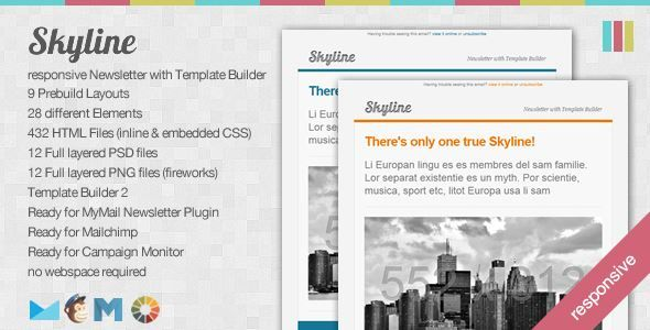 ThemeForest - Skyline-Responsive Newsletter with Template Builder Free Download