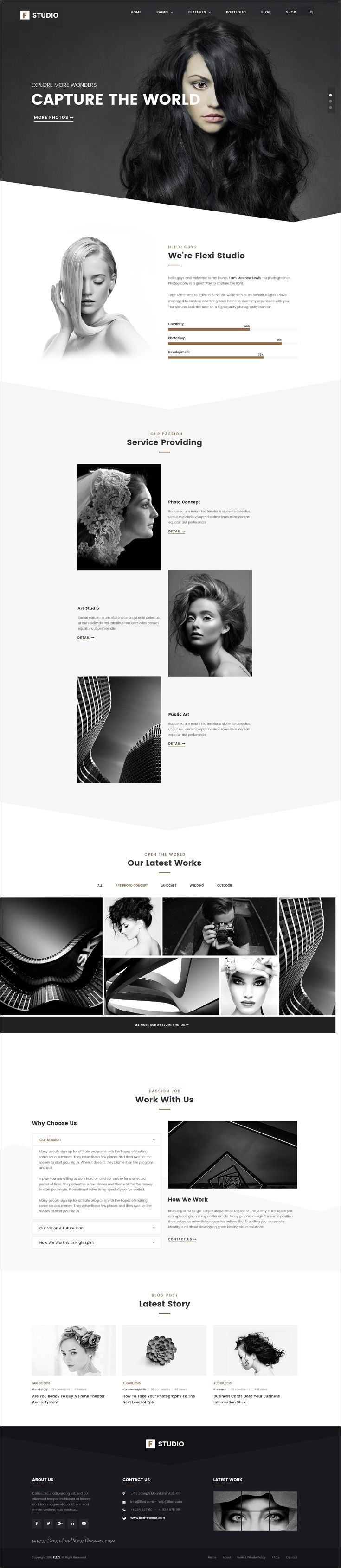 Flexi is a creative & modern design #Photoshop #Theme for multipurpose #photo #studio, Business & Corporate websites with 9 unique homepage layouts download now➩ https://themeforest.net/item/flexi-multipurpose-business-corporate-psd-template/17515715?ref=Datasata