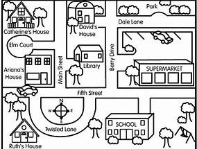 Image result for community map with direction arrow