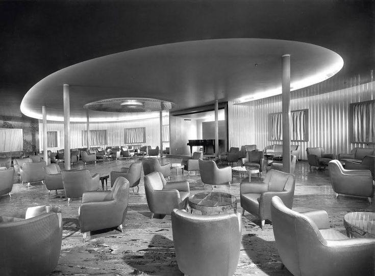 the ocean liner andrea doria 1951 interior by ponti zoncada pulitzer finali minoletti