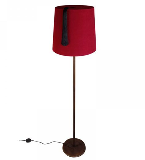 FEZ FLOOR-LAMP - to go with dr who dvd/book shelve