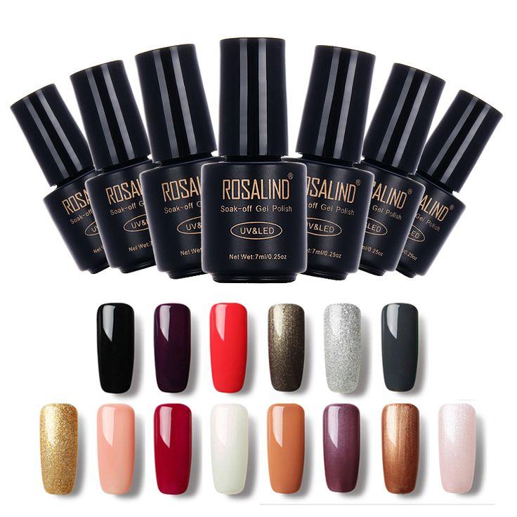 Rosalind schwarze flasche 7 ml reine farbe 58 farben 01-30 gel nagel Nailart nagelgelpoliermittel Macaron tränken-weg Gel UV-LED Gel