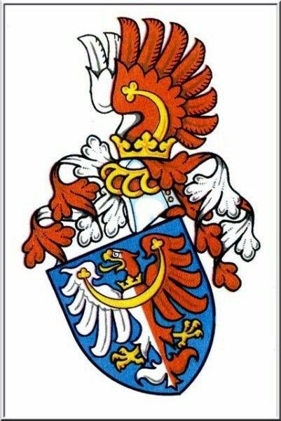 Wappen der Grafen von Kolowrat Krakowsky / Coat of Arms of The Counts von Kolowrat Krakowsky / Armas de los Condes von Kolowrat Krakowsky.
