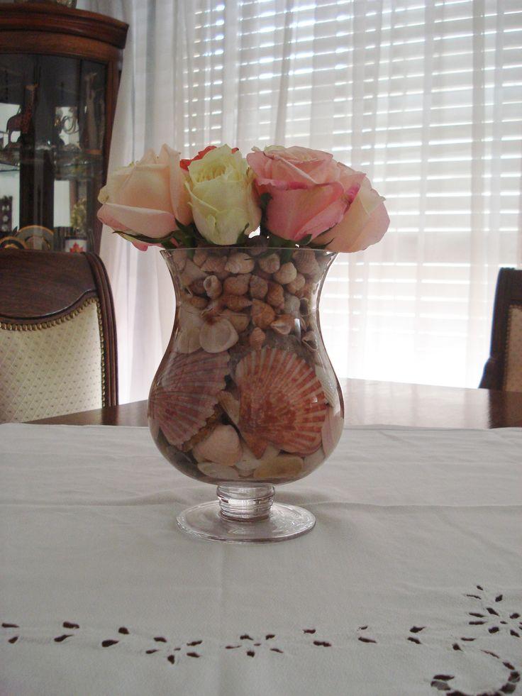 Rosas,caracoles y shells.