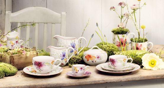 """ein duftender Sommergarten auf Porzellan   """"Marie Fleur"""" von Villeroy & Boch  #geschirr #porzellan #blumen"""